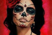 sugar skull faces / Sugar skull and day of the dead photos and art