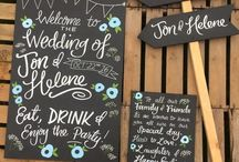 Wedding signs + more / Handmade wedding signs & other bits