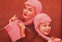 vintage / vintage knit patterns and advertisements