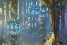 fantasyworld / Sceneries4fantasyworldideas