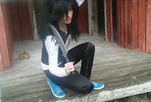 """† Jeff The Killer (Older Cosplay) † / This was my own """"modern"""" version of Jeff. And the make up... Well sucks in these. xD"""