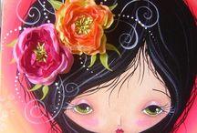 DIBUJOS MUÑECAS / Pinturas y ilustraciones