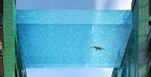 Стеклянный бассейн.Glass pool /  Дизайн  бассейна  разрушающий привычные границы. Призрачная иллюзорность созданная современными технологиями
