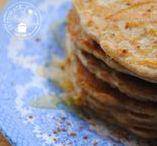 Pannenkoekjes en toppings / Pannenkoekjes kunnen altijd. Zoete pannenkoeken, hartige, kleine of grote ze zijn allemaal lekker. Ook vind je recepten voor heerlijke pannenkoeken toppings.