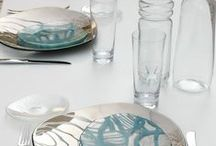 Fine dining table setting / Tabletop concepts for fine dining with bespoke glass tableware designed by www.the-glass-co.com for the hospitality business. Feel free to contact us at info@myglassstudio.com