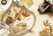 High tea & afternoon tea service / High tea ideas, high tea or afternoon tea stands, tea set-ups and dessert  dinnerware for elegant tea presentations designed by www.the-glass-co.com for the hospitality business. Feel free to contact us at info@myglassstudio.com for any assistance!