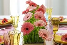 Spring food presentation / Flowers and nature as an inspiration for dinnerware design and food presentation.