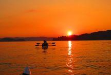 Sunaet Trail / 牛窓の海に落陽。至福のひとときです。