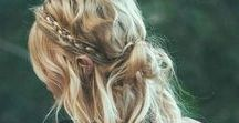 Hairstyle / Beachy and wavy hairstyle. Braids style