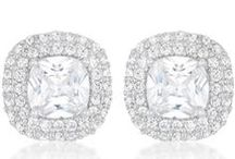 Stud Earrings | Cubic Zirconia / BelovedSparkles.com | Exquisite Cubic Zirconia Jewelry | Couture Bridal Hair Accessories | Celebrity Inspired Diamond Jewelry Classic and Statement CZ Stud Earrings