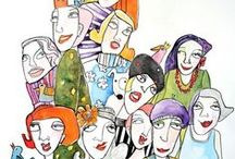 art paintings watercolor illustrations / Paintings watercolor Art monicablom