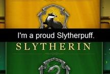 "Slytherpuff Pride / Yes, ""Slytherpuffs"" are a thing (though we're quite rare). This board used to be ""Hufflepuff Pride"", but I recently found out that I fit into Slytherin as well; I have strong elements of both houses. (Took a VERY accurate test). So this is for Slytherin AND Hufflepuff Pride."