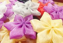 Ribbons, Bows and Crafts / Satin and Grosgrain ribbons, bows, flower ribbons, unfinished, made-to-order.