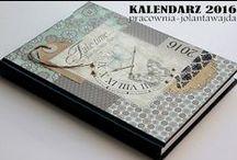 Kalendarze książkowe RĘCZNIE OZDABIANE / www.pracownia-jolantawajda.tradoro.pl