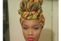Traditional African Headwraps / Check out these African Headwraps. Traditional Nigerian wedding headwraps great for the Nigerian bride. Many of these headwraps can be made with our African fabric. African American woman sometimes tie the fabric at the nape of the neck, her form of styling always leaves her forehead and neck exposed; and, by leaving her face open, the headwrap visually enhances the facial features.