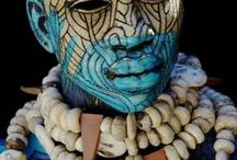 African Body Paint | Traditional African Body Art / The beautiful art of African body paint is celebrated throughout the continent.  Each area has its own unique style of body paint.  #africa #bodypaint #african