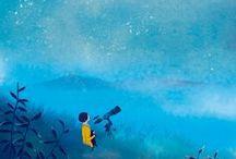 """Miradas en azul / """"¿Quiénes gritaron de alegría Cuando nació el color azul?"""" Neruda"""