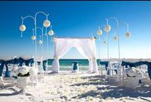 Panama City Beach Florida Weddings / Panama City Beach Weddings in Florida by Princess Wedding Co Get ideas and inspiration with our decorations and set ups. Bamboo arbors, chairs, silk sashes, chandeliers, bali flags and much more