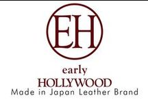 """early HOLLYWOOD by Keiichiro Goto / early HOLLYWOOD brand designed by REDMOON founder Keiichiro Goto features America's 1930-1950 style elements. Found in our neo -classical leather bag.  Leather Craftsman hand selected by our Redmoon designers produce exclusively for our """"Village Works"""" Made in Japan."""