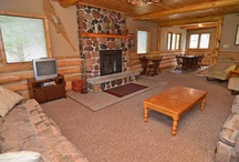 Woods View Cabin / Located 4 blocks off the Lake Namakagon but with docking space at the main lodge at Four Seasons Resort near Cable, Wisconsin, Woods View Cabin is located at the edge of a 100 acre forest. The vacation home has 2 covered decks, cedar exterior with log accents and knotty pine interior. There are 5 bedrooms (10 beds), 2 baths and field stone fireplace in this comfortable Northern Wisconsin vacation rental. http://4seasonsresort.net/woodsviewvacationhomerental.html