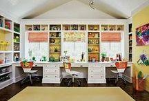 School Rooms / School room ideas for your home, homeschool rooms ideas, ways to organized your homeschool room. Ideas for teaching at home.