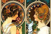 Secesja <3 / Ulubione i fantastyczne pracy Alfonsa Muchy. Inspirowane jego twórczością inne prace malarskie. Architektura. Meble. Biżuteria. Słowem: wszystko co z secesją związane!