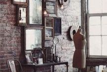 Modern vintage / Vintage style decor and accessories with a modern edge.