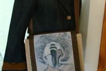 Poetic Art Creative Bags / Creative art jute bags featuring inspirational canvas art on the front.