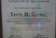 Resource Speakers Certificate / The Certificates of Appreciation being awarded to Prof. Erwin Globio - The Resource Speaker