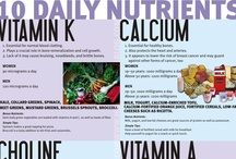 Healthy Nutrition Inspiration via Infographics! / Read something here to inspire & inform YOU! :: I believe that broadening your knowledge is imperative for improving your wellbeing. :: Be sure to check that all facts on an infographic are true before taking their advice! ::  / by W for Wellbeing
