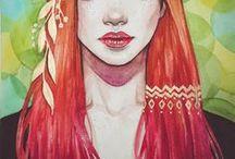 Ren Crescent - RC Art Design / My watercolor portraits and digital art