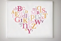 Alphabets, monograms, words, numbers and signs / see the writing on the wall  / by Cheryl Kuhl-Schadt