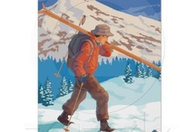 vintage winter  posters