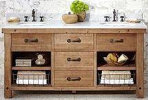 Idées de Meubles pour Vasques / Découvrez ici des Idées de Projets pour votre Salle de bain équipée de Vasques en Pierre naturelle !