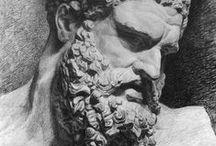 Anciën grecque et Romain statues