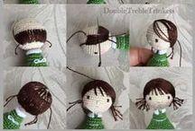 Técnicas Amigurumi / Amigurumi Techniques / Aquí guardo las fotos de como armar muñecos Amigurumi. Como hacer el pelo; como coser ojos, labios, etc; como marcar bien el rostro y mucho más.