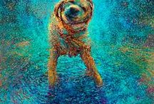 Dog Art / Beautiful artwork featuring what else.....dogs! All sorts of different mediums from paintings, to sculptures, to digital art.