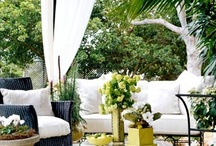 """Outdoor Rooms & Furnishings / Check out my board """"Garden Ideas"""" for more ideas to decorate outdoor rooms / by Judy"""