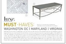 Magazine Coverage  / We are lucky enough to have such high-caliber designer clients whose projects—including our custom tables for them—have been featured in magazines.