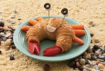 Sea Snacks / Having a themed party? Need a little inspiration for snacks? We've got instructions for turning your hot dogs into octopi, crab croissants, and many other ocean-themed tasty treats right here.