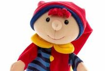Poppenkastpoppen / Alle poppenkastpoppen bij elkaar. Merken: Sterntaler, The Puppet Company, Trudi