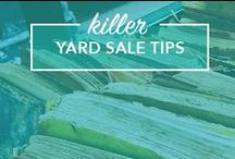 Yard Sale Tips / Yard sale tips, yard sale signs, yard sale displays, yard sale organization, yard sale pricing