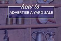 How to Advertise a Yard Sale / Advertise a yard sale, yard sale advertising, free yard sale advertising, yard sale signs, where to advertise a yard sale, online yard sale advertising