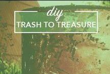 Trash to Treasure / DIY, Shabby Chic, Trash to Treasure, DIY Home Decor, Yard Sale Finds, Yard Sale Decor, Thrift Decor, Thrifting