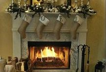 Holiday::Christmas Mantel / Create and decorate a gorgeous Christmas mantel this year. Gain inspiration from these beautiful Winter decorated hearths and create the perfect one in your home. Please visit www.paradisepraises.com
