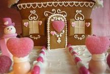 Holiday::Christmas Gingerbread Houses / Nothing says Christmas like Gingerbread houses and the fun that goes along with creating these beautiful masterpieces with your children. Come and be inspired by these gorgeous works of gingerbread art that are almost too beautiful to eat. Please visit www.paradisepraises.com
