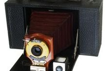 Classic Cameras / Antique & Classic Cameras.   We use a lot of photography in our Real Estate business, so this combined with a love of history makes camera collecting a natural.   Photographing the cameras is another challenge that we enjoy.