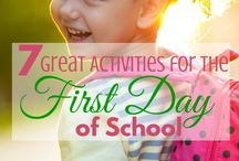 First Day of School Activities / Start your homeschool or public school year off on the right foot with these fun first day of school activities. You can find more fun and helpful school resources at Paradise Praises, www.paradisepraises.com