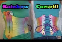 Ribbon Cinchers / Beautiful corsets constructed from ribbons or strips of fabric