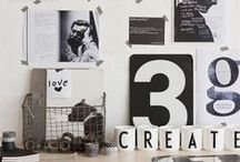 Litery, słowa, DESIGN / Produkty z alfabetem, pozytywne przesłania, nietuzinkowe dekoracje ścienne - dom czarno na białym :)